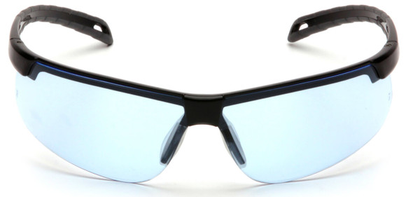 Pyramex Ever-Lite Safety Glasses with Black Frame and Infinity Blue H2MAX Anti-Fog Lens SB8660DTM - Front View