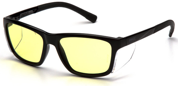 Pyramex Conaire Safety Glasses with Black Frame and UV400 Blue Block Lens SB10734D
