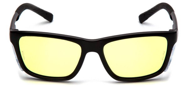 Pyramex Conaire Safety Glasses with Black Frame and UV400 Blue Block Lens SB10734D - Front View