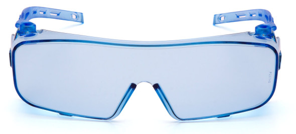 Pyramex Cappture Safety Glasses with Infinity Blue Anti-Fog Lens S9960ST - Front View