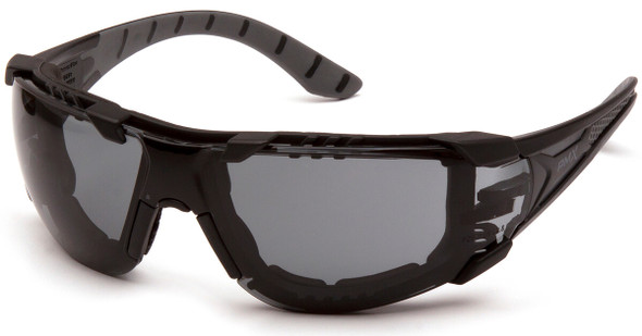 Pyramex Endeavor Plus Foam-Padded Safety Glasses with Black/Gray Temples and Gray H2MAX Anti-Fog Lens SBG9620STMFP
