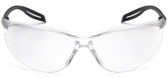 Pyramex Neshoba Safety Glasses with Black Temple and Clear Anti-Fog Lens S9710ST - Front View