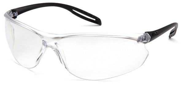 Pyramex Neshoba Safety Glasses with Black Temple and Clear Anti-Fog Lens S9710S