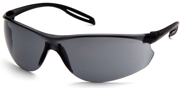 Pyramex Neshoba Safety Glasses with Black Temple and Gray Anti-Fog Lens S9720ST