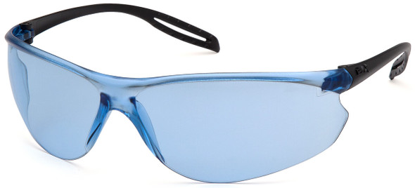 Pyramex Neshoba Safety Glasses with Black Temple and Infinity Blue Lens S9760S