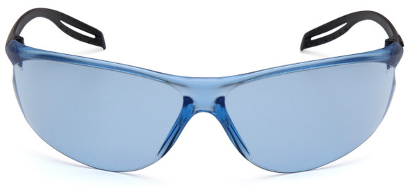 Pyramex Neshoba Safety Glasses with Black Temple and Infinity Blue Lens S9760S - Front View
