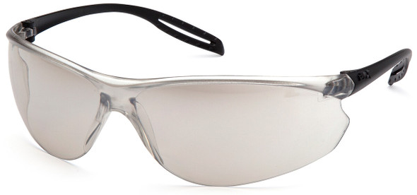 Pyramex Neshoba Safety Glasses with Black Temple and Indoor-Outdoor Mirror Lens S9780S