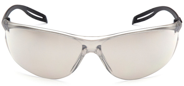 Pyramex Neshoba Safety Glasses with Black Temple and Indoor-Outdoor Mirror Lens S9780S - Front View