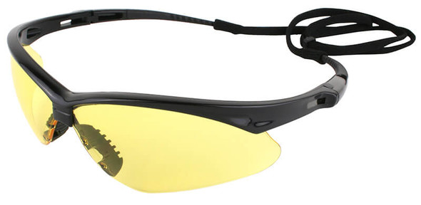 KleenGuard Nemesis Safety Glasses with Black Frame and Amber Lens