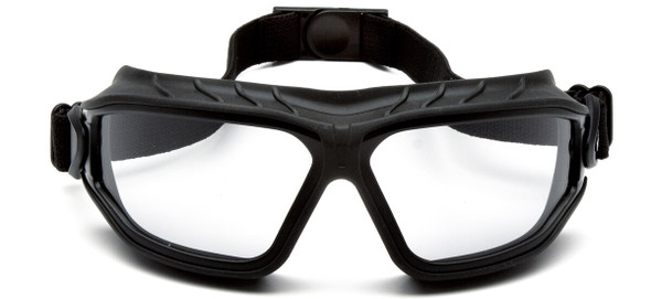 Pyramex Torser Safety Goggles with Black Frame and Light Gray H2MAX Anti-Fog Lens GB10025TM - Front View