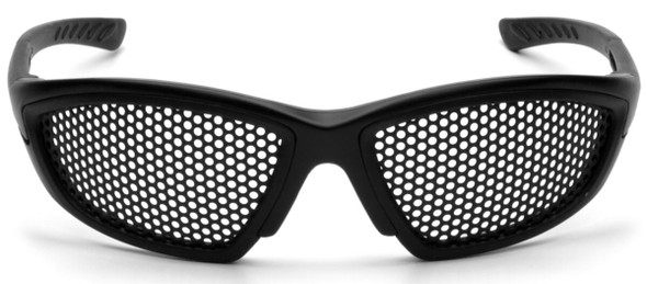 Pyramex Trifecta Safety Glasses with Punched-Steel Lens SB76WMD - Front View