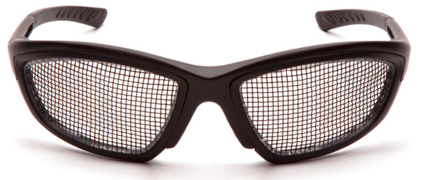 Pyramex Trifecta Safety Glasses with Wire-Mesh Lens SB74WMD - Front View