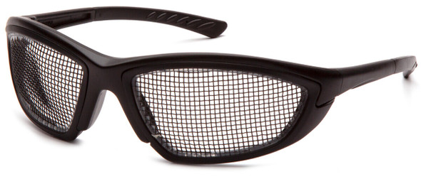 Pyramex Trifecta Safety Glasses with Wire-Mesh Lens SB74WMD