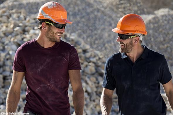 Men Wearing Bolle Mercuro Safety Glasses