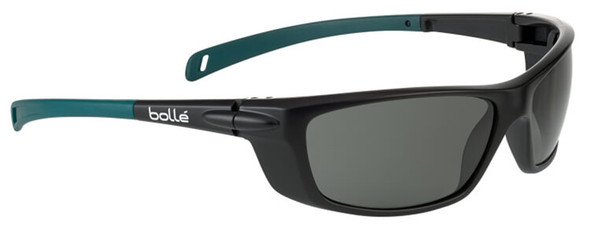 Bolle Baxter Safety Glasses with Black Frame and Polarized Smoke Lens