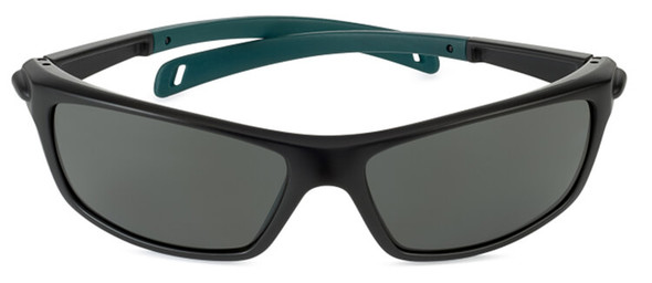 Bolle Baxter Safety Glasses with Black Frame and Polarized Smoke Lens - Front View
