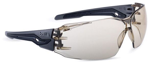Bolle Silex Plus Safety Glasses with Gray/Black Temples and CSP Platinum Anti-Fog Lens