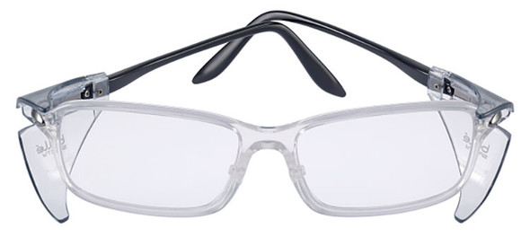 Bolle B809L Safety Glasses with Side Shields and Clear Blue-Blocker Lens PXFB809108