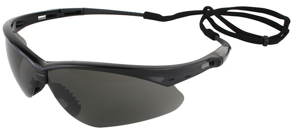 KleenGuard Nemesis Safety Glasses with Black Frame and Anti-Fog Smoke Lens