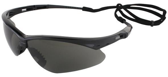 KleenGuard Nemesis Safety Glasses with Black Frame and Anti-Fog Smoke Lens 22475