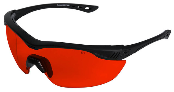 Edge Tactical Overlord Safety Glasses With Red Lens For Green Lasers