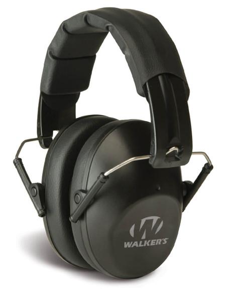 Walker's Pro Low-Profile Folding Earmuff Black NRR 22