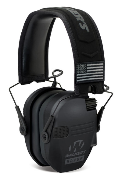 Walker's Razor Patriot Slim Low Profile Electronic Earmuff Black - NRR 23