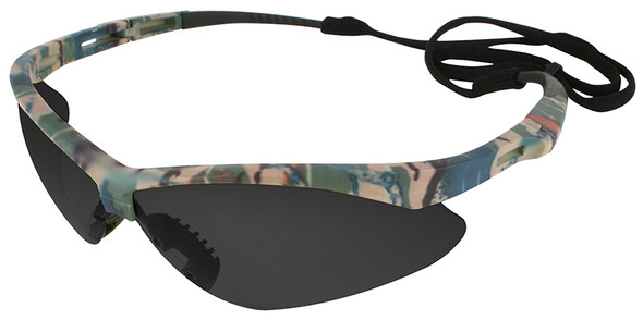 KleenGuard Nemesis Safety Glasses with Camo Frame and Anti-Fog Smoke Lens