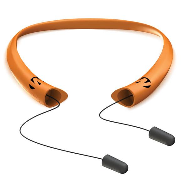 Walker's Retractable Earplug Band - Blaze Orange