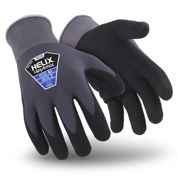 HexArmor Helix 1070 Foam Nitrile Dip Work Gloves