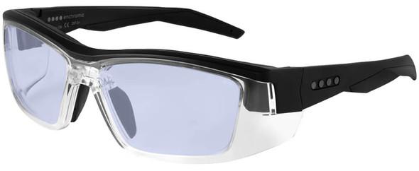 EnChroma Martinez Color Blind Safety Glasses with Cx1 Indoor DT Lens Cx1-DT-MTZ-BK-PL