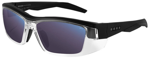 EnChroma Martinez Color Blind Safety Glasses with Cx3 Outdoor Sun Lens Cx3-SN-MTZ-BK-PL