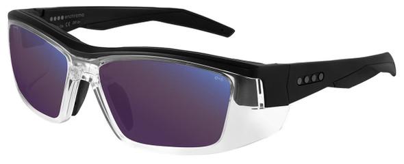 EnChroma Martinez Color Blind Safety Glasses with Cx3 Outdoor Sun SP Lens Cx3-PT-MTZ-BK-PL