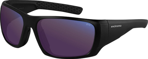EnChroma Panoramic Color Blind Safety Glasses with Cx3 Outdoor Sun SP Lens Cx3-PT-PAN-BK-PL