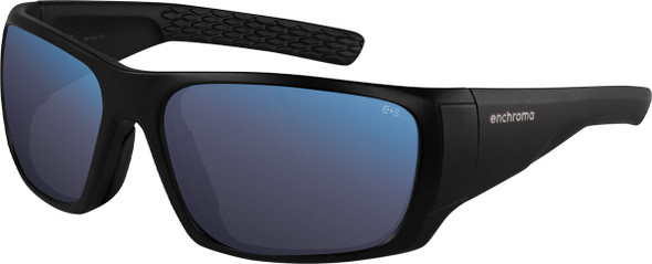 EnChroma Panoramic Color Blind Safety Glasses with Cx3 Outdoor Sun Lens Cx3-SN-PAN-BK-PL