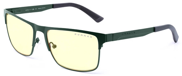 Gunnar Pendleton Computer Glasses with Moss Frame and Amber Lens PEN-09401