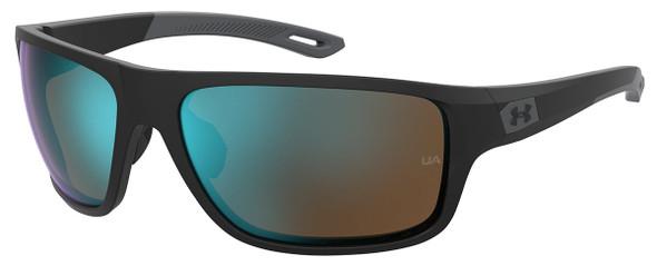 Under Armour Battle Sunglasses with Black Frame and Green Cobalt Lens UA0004S-0VK-W1