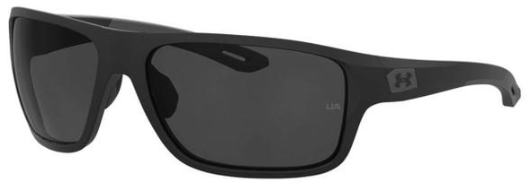 Under Armour Battle Sunglasses with Black Frame and Grey Lens UA0004S-O6W-KA