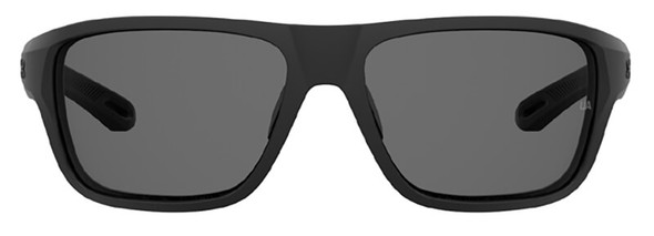 Under Armour Battle Sunglasses with Black Frame and Grey Polarized Lens UA0004S-003-6C - Front View