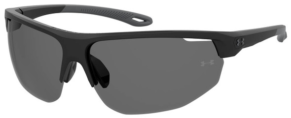 Under Armour Clutch Sunglasses with Black Frame and Grey Lens UA0002GS-KB7-KA