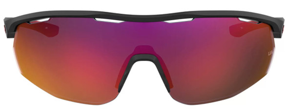 Under Armour Gametime Sunglasses with Black Frame and Grey Infrared Mirror Lens UA0003GS-4NL-B3 - Front View