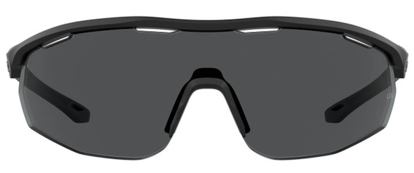 Under Armour Gametime Sunglasses with Black Frame and Grey Lens UA0003GS-003-KA - Front View
