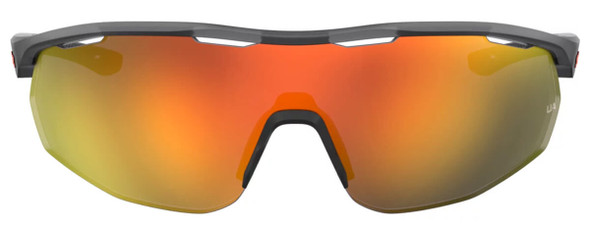Under Armour Gametime Sunglasses with Transparent Grey Frame and Baseball Orange Lens UA0003GS-KB7-50 - Front View