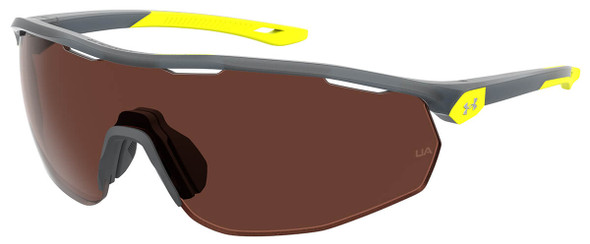 Under Armour Gametime Sunglasses with Opal Grey Frame and Brown Polarized Lens UA0003GS-0UV-6A