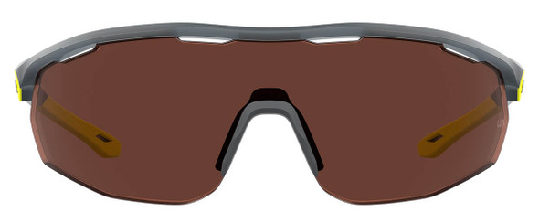 Under Armour Gametime Sunglasses with Opal Grey Frame and Brown Polarized Lens UA0003GS-0UV-6A - Front View