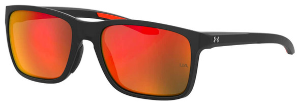 Under Armour Hustle Sunglasses with Black Frame and Red Mirror Lens UA0005S-RC2-UZ