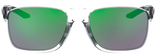 Under Armour Hustle Sunglasses with Crystal Frame and Green Mirror Lens UA0005S-MNG-Z9 - Front View