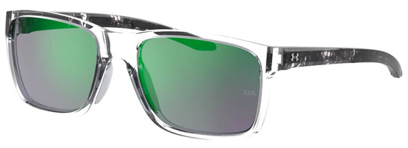 Under Armour Hustle Sunglasses with Crystal Frame and Green Mirror Lens UA0005S-MNG-Z9