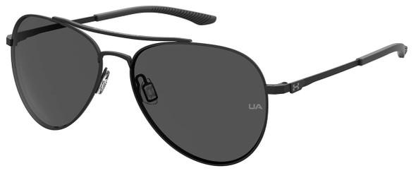 Under Armour Instinct Sunglasses with Black 57mm Frame and Grey Lens UA0007GS-003-57IR