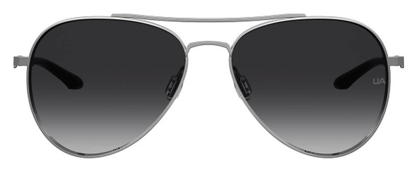 Under Armour Instinct Sunglasses with Dark Ruthenium 59mm Frame and Grey Polarized Lens UA0007GS-KJ1-WJ - Front View
